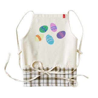 Colored Easter Eggs HEART Apron