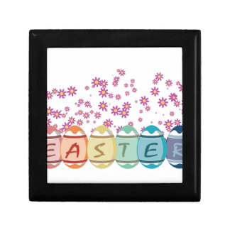 Colored Easter Eggs Jewelry Box