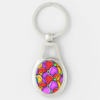 Colored Easter Eggs Key Chains