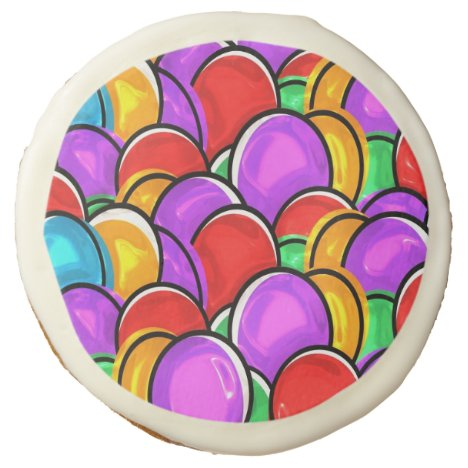 Colored Easter Eggs Sugar Cookie
