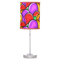 Colored Easter Eggs Table Lamp