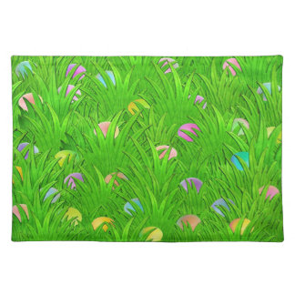 Colored Eggs in Grass Placemat