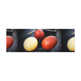 Colored Eggs on Canvas