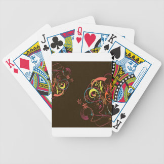 Colored elements design bicycle playing cards