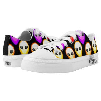 Colored Extraterestrial Alien Printed Shoes