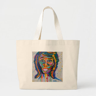 COLORED FACE LARGE TOTE BAG