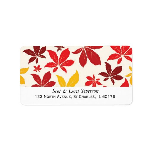 Colored fall leaves return address labels zazzle for Colored mailing labels