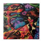 colored fantasy art design tile
