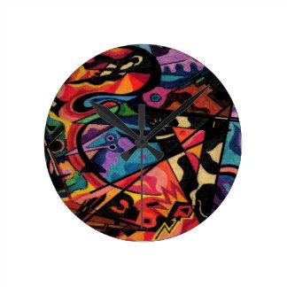 colored fantasy design art clock
