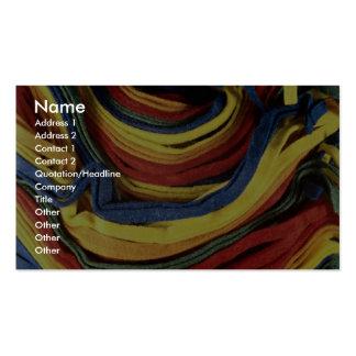 Colored felt business card template