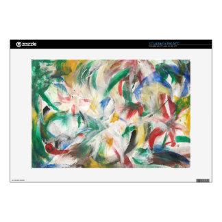 "Colored Fingerpaint Art Decal For 15"" Laptop"