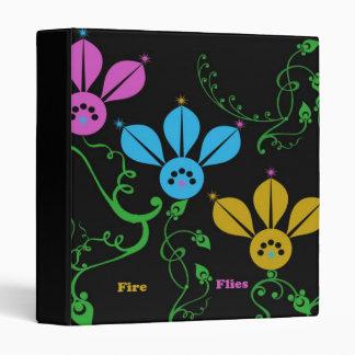 colored fire flies binder