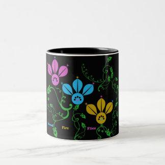 colored fire flies Two-Tone coffee mug