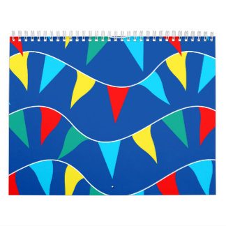 Colored flags calendar
