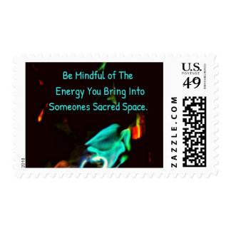 Colored Flames Mindful Energy Inspirational Postage