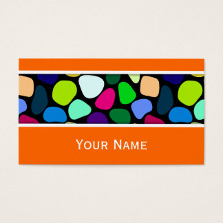 Colored Flat Stone Mosaic I + your ideas Business Card