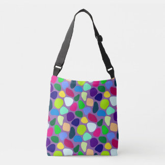 Colored Flat Stone Mosaic I + your ideas Crossbody Bag