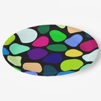 Colored Flat Stone Mosaic I + your ideas Paper Plate