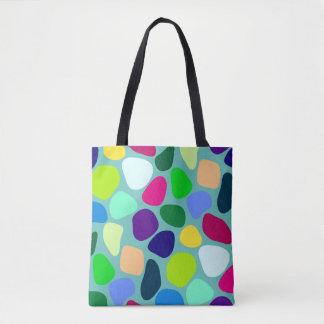 Colored Flat Stone Mosaic I + your ideas Tote Bag