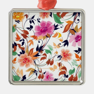 colored floral standard metal ornament
