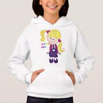 Colored Flower Girl Hoodie
