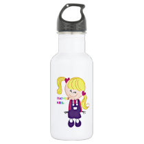 Colored Flower Girl Water Bottle