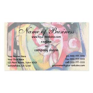 Colored Flowers (Abstract Forms) by Franz Marc Business Card