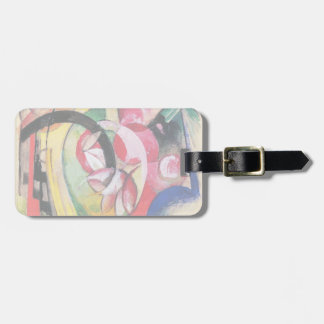 Colored Flowers (Abstract Forms) by Franz Marc Luggage Tag