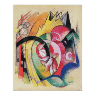 Colored Flowers (Abstract Forms) by Franz Marc Print