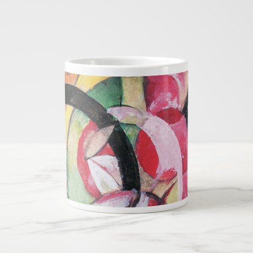 Colored Flowers (Abstract Forms) by Franz Marc Jumbo Mugs
