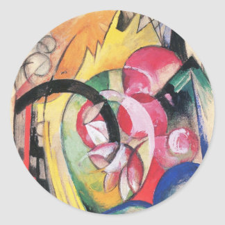 Colored Flowers (Abstract Forms) by Franz Marc Stickers