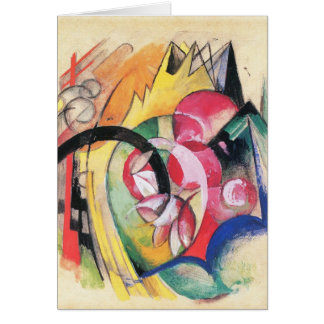 Colored Flowers (aka Abstract Forms) by Franz Marc Card