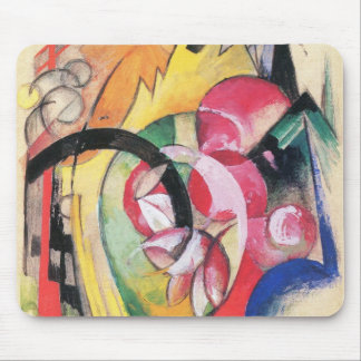 Colored Flowers (aka Abstract Forms) by Franz Marc Mouse Pad