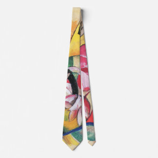 Colored Flowers (aka Abstract Forms) by Franz Marc Tie