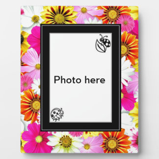 Colored flowers Art Photo Plaques