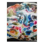 Colored flows postcard