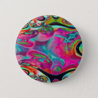 Colored Foil Tomatoes Fractal Pinback Button
