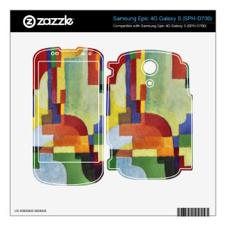 Colored forms (I) by August Macke Decal For Samsung Epic