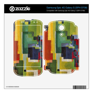 Colored forms (II) by August Macke Decal For Samsung Epic