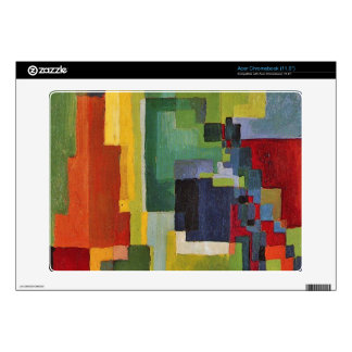 Colored forms (II) by August Macke Skins For Acer Chromebook