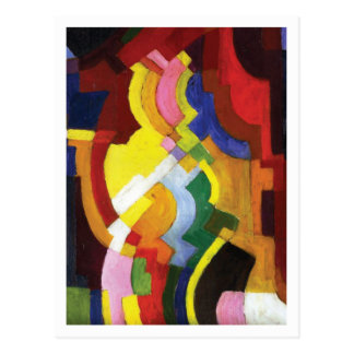 Colored Forms III by August Macke Postcard