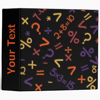 Colored Fractions, Number Design Binder