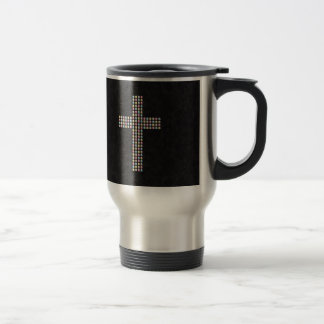 Colored Gem Cross Travel Mug