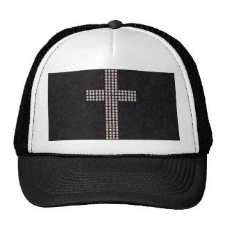 Colored Gem Cross Trucker Hat