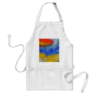 Colored glass adult apron