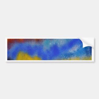 Colored glass bumper sticker