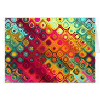 Colored Glass Circles Card