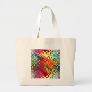 Colored Glass Circles Large Tote Bag