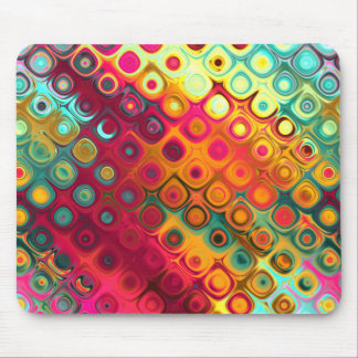 Colored Glass Circles Mouse Pad