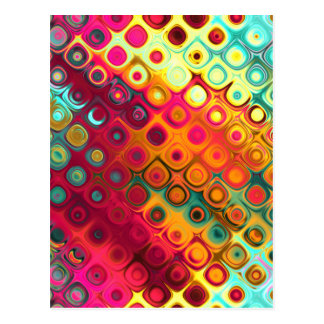 Colored Glass Circles Postcard